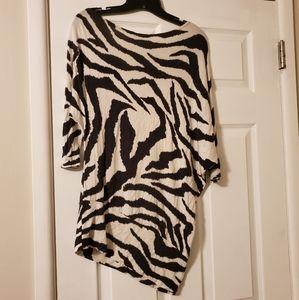 Body Central Zebra Off Shoulder Top